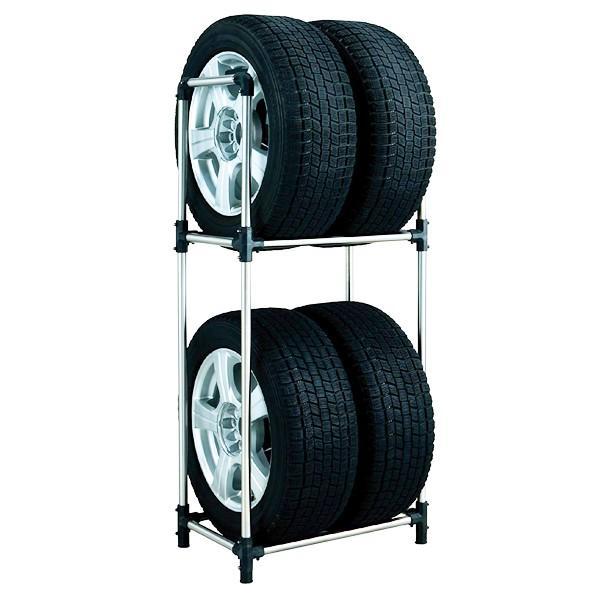 大橋産業 BAL タイヤラック タフネス Mサイズ No.1555 タイヤ収納棚/物置内スッキリ置ける/軽自動車/劣化を抑制する縦置き