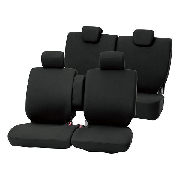 カラードシートカバー 軽自動車ベンチシート1台分 ブラック/前席フルカバー/肘掛付き/ムーヴキャンバス/N-BOX//eKワゴン/タント