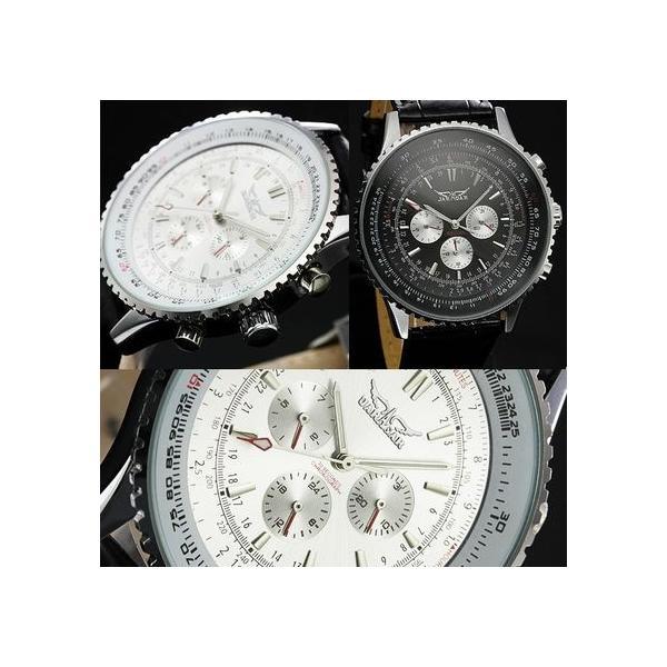 自動巻き 腕時計 メンズ 送料無料 1年保証 全針稼動の本格仕様 ビッグフェイス 自動巻き クロノグラフ 腕時計 BOX 保証書付き 0125 1210|styleon|02
