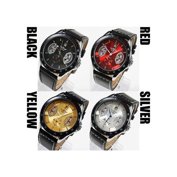 自動巻き 腕時計 メンズ 送料無料 1年保証 カレンダー 機能付き 自動巻 バックスケルトン 腕時計 BOX 保証書付き|styleon|03
