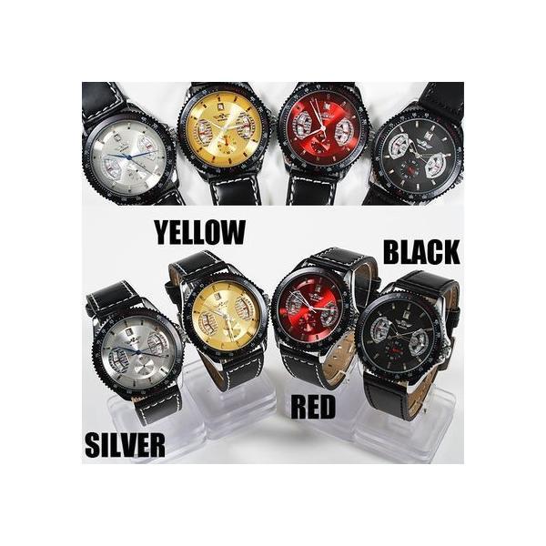 自動巻き 腕時計 メンズ 送料無料 1年保証 カレンダー 機能付き 自動巻 バックスケルトン 腕時計 BOX 保証書付き|styleon|04