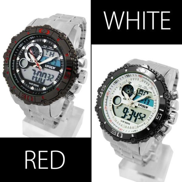 腕時計 メンズ アナデジ 送料無料 1年保証 BOX付き  腕時計 アナログ & デジタル デュアルタイム 腕時計 全4色 WT-FA  WS  0125 0825|styleon|04