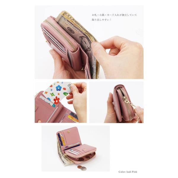8b704a3c6120 ... 財布 レディース 二つ折り 二つ折り財布 革 本革 レザー コンパクト 財布革 小銭入れ ...