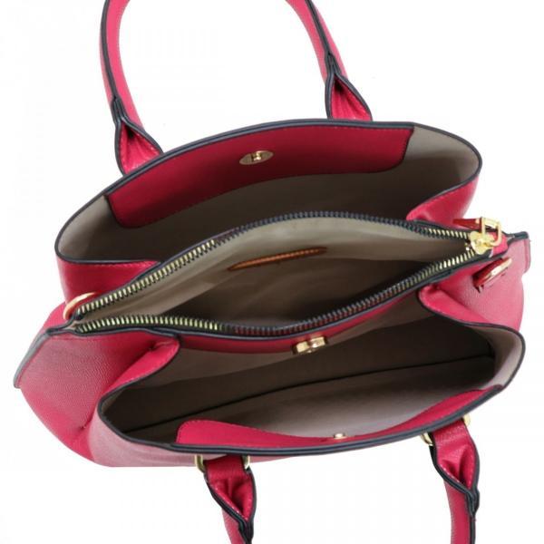 GUSCIO グッシオ 12-0868 トレンド2WAYハンドバッグ スクエア型 三層構造 ショルダー付き|stylewebdirect|06
