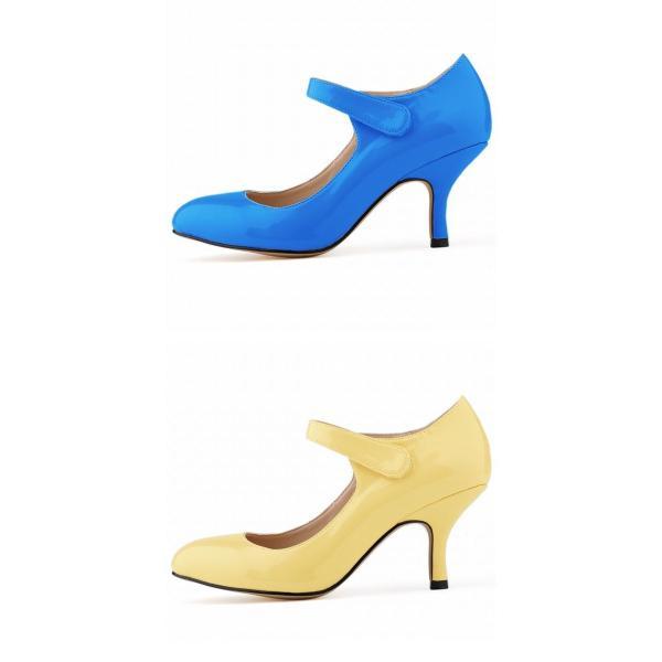 ストラップパンプス 歩きやすい 痛くない レディース キャバ ポインテッドトゥ ピンヒール 大きいサイズ 靴 エナメル くつ シューズ キレイめ 大人 ハイヒール 6