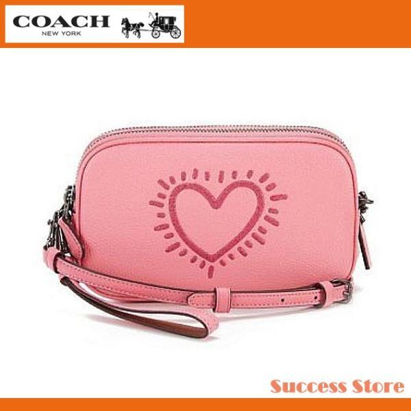 9a69d932a805 コーチ レディース クラッチバッグ ショルダーバッグ コーチ x キースヘリングコラボ coach x keith haring バッグ ...