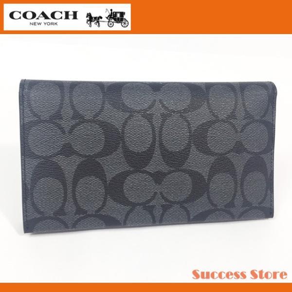 d936576416de コーチ アウトレット スマホケース iphoneプラスケース COACH ラージ シグネチャー フォンケース F32625 チャコール×ブラック メンズ  ...