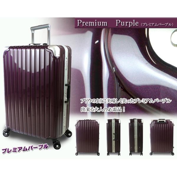 スーツケース 人気 大型 76cm Lサイズ TSAロック 軽量 アルミフレーム ジェノバPC2015|success|05