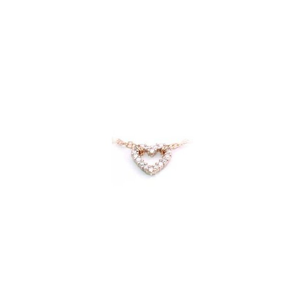K18ピンクゴールドダイヤモンドブレスレット ハート セール 母の日 春