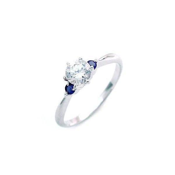 エンゲージリング 婚約指輪 ダイヤモンド ダイヤ プラチナ リング サファイア 0.35ct セール 母の日 春