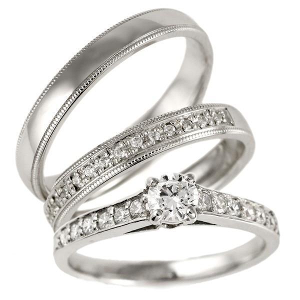 セットリング 婚約指輪 結婚指輪 重ね付け ダイヤモンド プラチナ マリッジリング ペアリング エンゲージリング セール 母の日 春