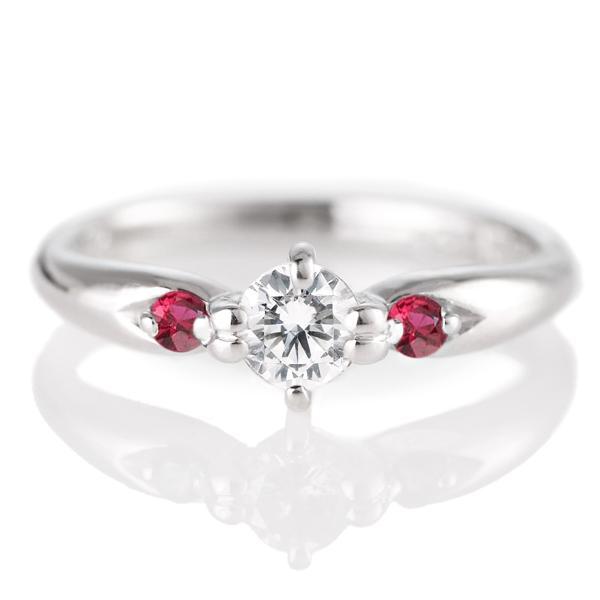 エンゲージリング 婚約指輪 ダイヤモンド ダイヤ プラチナ リング ルビー セール 母の日 春