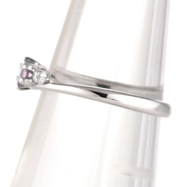婚約指輪 エンゲージリング ピンクトルマリン ダイヤモンド リング 18金ホワイトゴールド セール 母の日 春