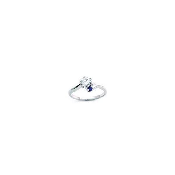 サファイア 指輪 ダイヤモンドリング プラチナ 1粒 鑑別書付き 0.48ct レディース 人気 ダイヤ 刻印無料 9月 誕生石 サファイア セール 母の日 春