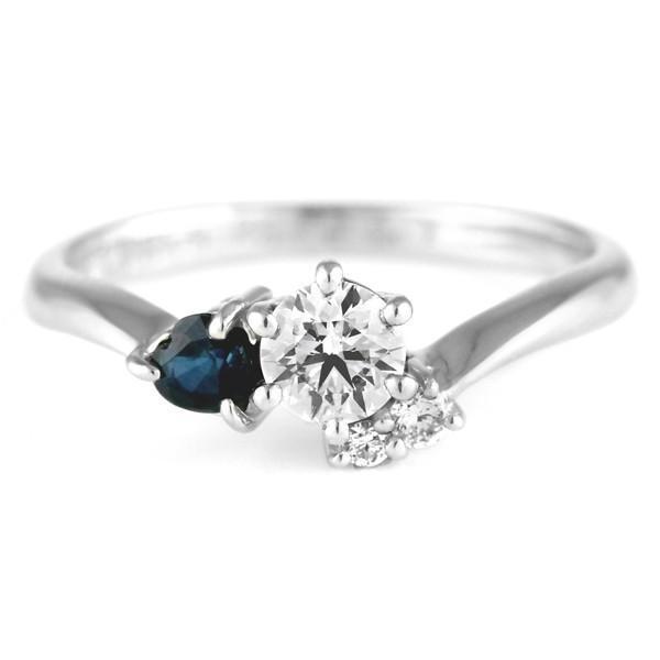 婚約指輪 ダイヤモンド プラチナリング 一粒 大粒 指輪 エンゲージリング 0.23ct プロポーズ用 レディース 人気 ダイヤ 刻印無料 9月 誕生石 サファイア セール