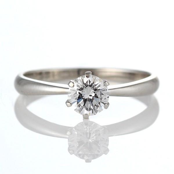 婚約指輪 ダイヤモンド リング 立爪 ダイヤ エンゲージリング ダイヤモンド ダイヤリング プラチナ950 VSクラス0.30ct 鑑定書付き バラ 付ケースセット セール