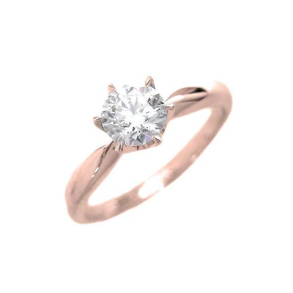 婚約指輪 ダイヤモンド リング 立爪 ダイヤ エンゲージリング ダイヤモンド ダイヤリング K18ピンクゴールド VSクラス0.30ct 鑑定書付き バラ 付ケースセット