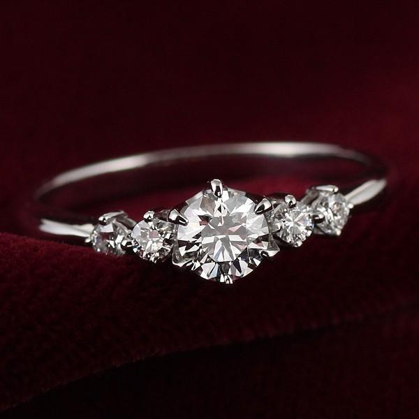 婚約指輪 ダイヤモンド ダイヤ リング エンゲージリング プラチナ900 VSクラス 0.30ct 鑑定書付 バラ 付ケースセット セール 母の日 春
