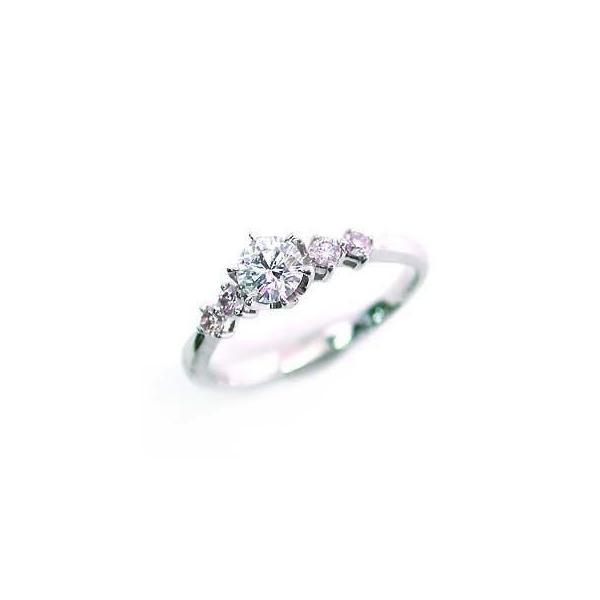 婚約指輪 エンゲージリング ホワイトゴールド ピンクダイヤモンド ダイヤ リング VSクラス0.30ct 鑑定書付 バラ 付ケースセット セール 母の日 春