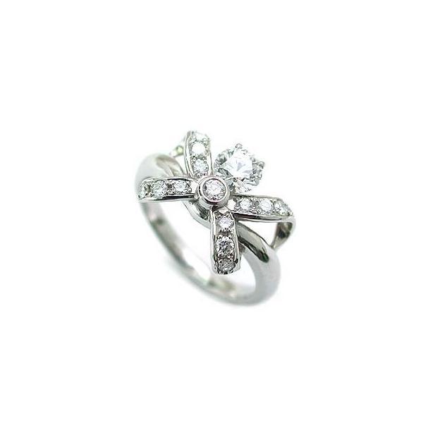 婚約指輪 エンゲージリング ホワイトゴールド ダイヤモンド ダイヤ リング VVS1クラス 0.30ct 鑑定書付 バラ 付ケースセット セール 母の日 春