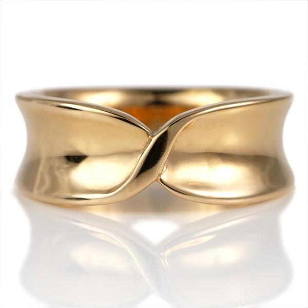 結婚指輪 ペアリング 幅広 24金 イエローゴールド ねじり ペア 地金 リング【今だけ代引手数料無料】