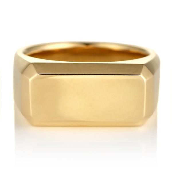 結婚指輪 ペアリング 幅広 24金 イエローゴールド 印台 ペア 地金 リング【今だけ代引手数料無料】