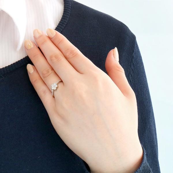 指輪 レディース ダイヤモンド フラワー プラチナ リング ブランド ギフト 記念 スイート プレゼント 贈り物 アクセサリー ホワイトデー セール