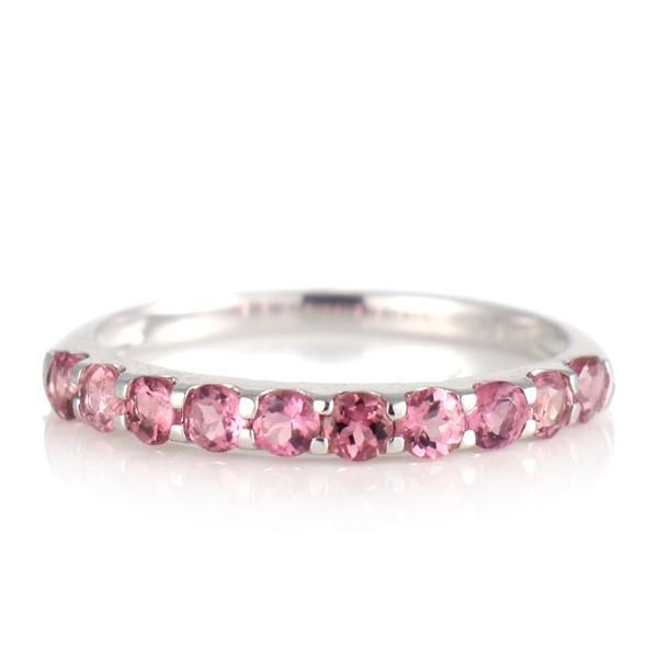 エタニティリング プラチナ ピンクトルマリン リング 天然石 10月 誕生石 結婚10周年記念 結婚10年 結婚指輪 婚約指輪