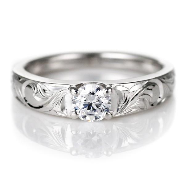 ハワイアンジュエリー 結婚指輪 鑑別書付き ハワイアン プラチナ ダイヤモンド リング 一粒 大粒 指輪 ハワイアンリング PT900 セール 母の日 春