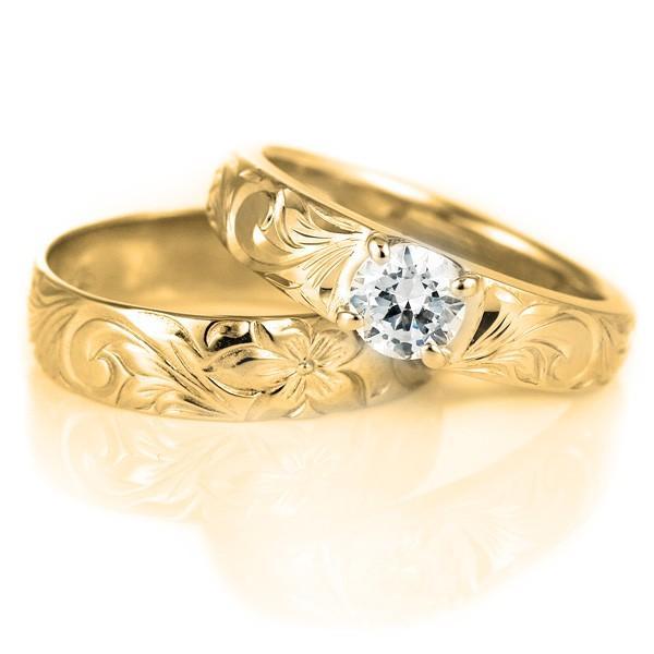 ハワイアンジュエリー 指輪 ピンキーリング 鑑定書付き ダイヤモンド リング 一粒 大粒 SI イエローゴールドK18 18金 K18YG セール 母の日 春