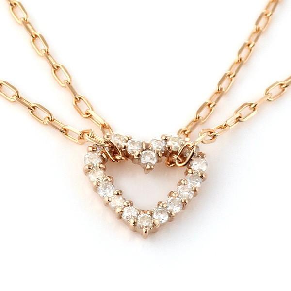 アンクレット ダイヤモンド ハート 18金 K18 ピンクゴールド セール 母の日 春