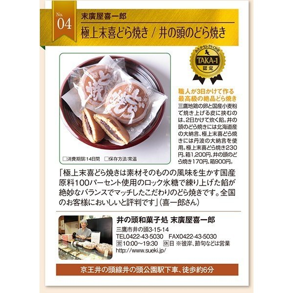 和菓子詰め合わせ1「栗まんじゅう5個/井の頭どら焼き5個」|sueki3154|05