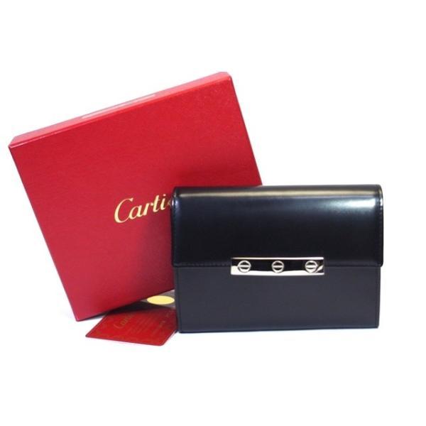 on sale 9d0bd 2160c cartier カルティエ 二つ折り財布 ラブコレクション レザー ブラック L3000743