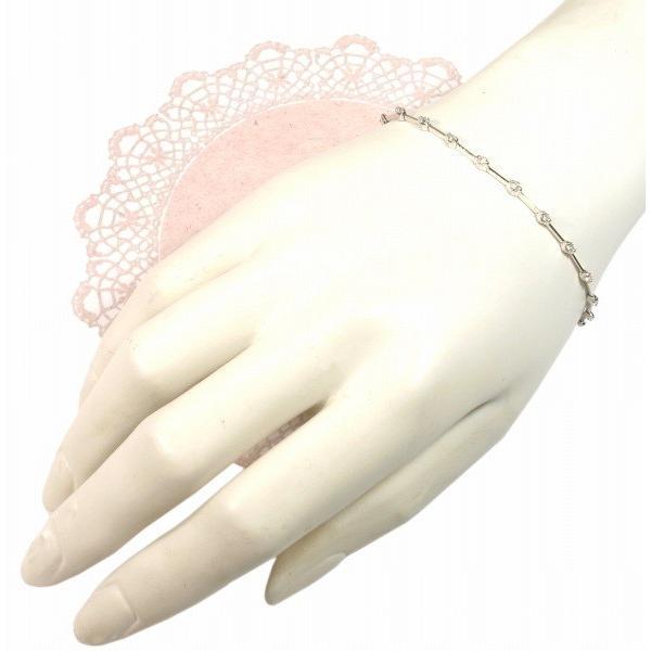 K18WG(ホワイトゴールド) ダイヤモンド ブレスレット