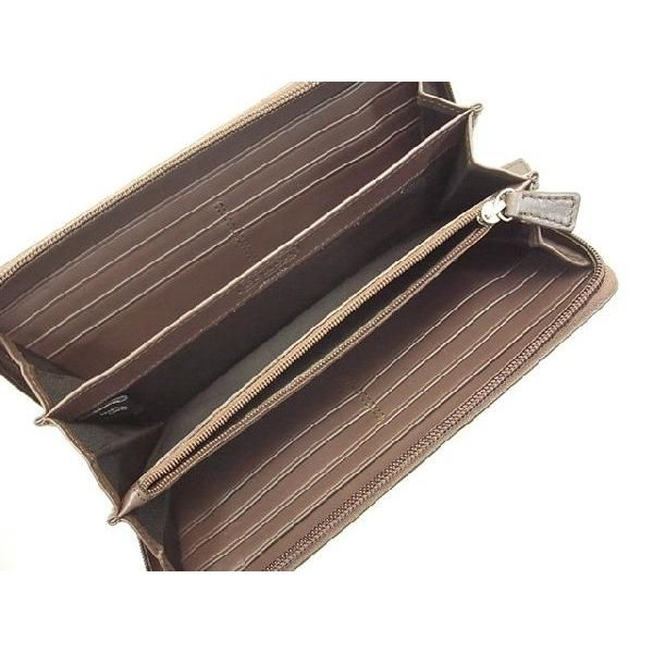 1627d1ee9113 ... COACH コーチ 長財布 レザー シグネチャー 型押し タバコ F74529|suemune|04