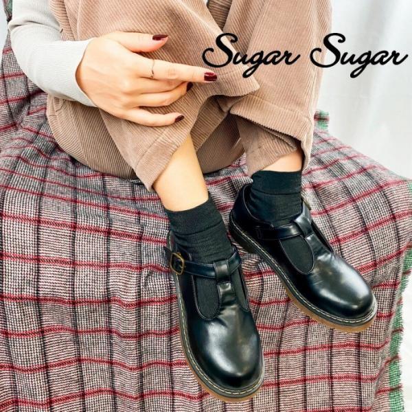 【SUGARSUGAR★シュガーシュガー】Tストラップシューズ|sugar-sugar