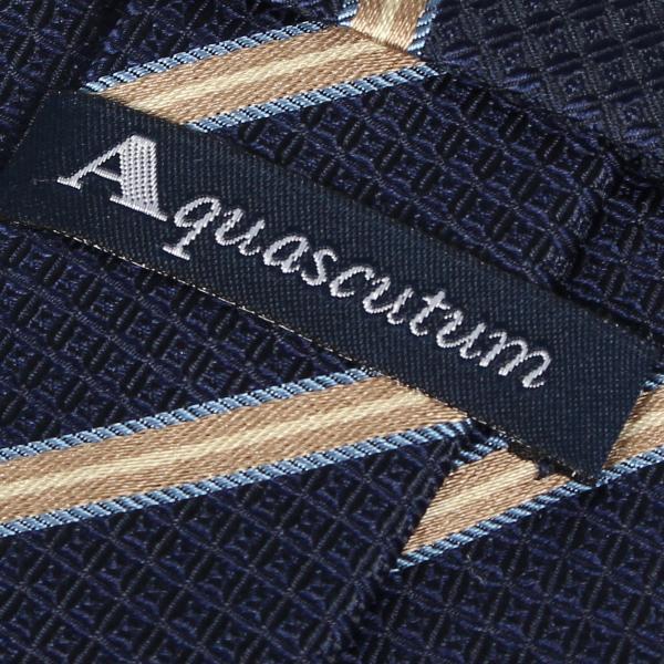 AQUASCUTUM アクアスキュータム ネクタイ メンズ ストライプ イタリア製 シルク ビジネス 結婚式 ブラック ネイビー レッド 黒 10/11 新入荷|sugaronlineshop|04