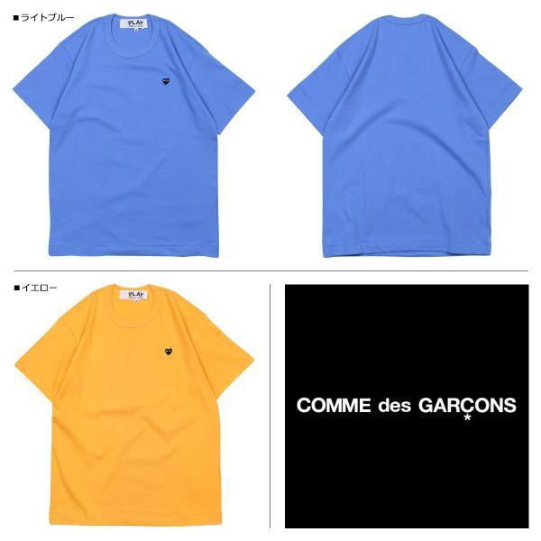 プレイ コムデギャルソン PLAY COMME des GARCONS Tシャツ 半袖 メンズ BLACK HEART T-SHIRT P1T064 AZ-T214 ブルー イエロー 11/3 追加入荷|sugaronlineshop|02