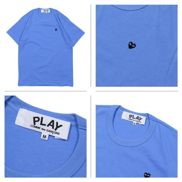 プレイ コムデギャルソン PLAY COMME des GARCONS Tシャツ 半袖 メンズ BLACK HEART T-SHIRT P1T064 AZ-T214 ブルー イエロー 11/3 追加入荷|sugaronlineshop|04