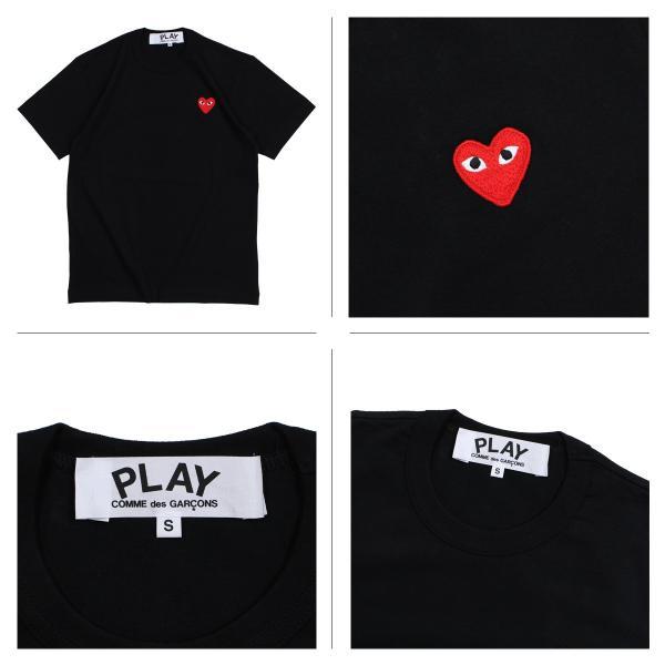 プレイ コムデギャルソン PLAY COMME des GARCONS Tシャツ 半袖 メンズ RED HEART T-SHIRT ブラック ホワイト AZT108 11/3 追加入荷|sugaronlineshop|03