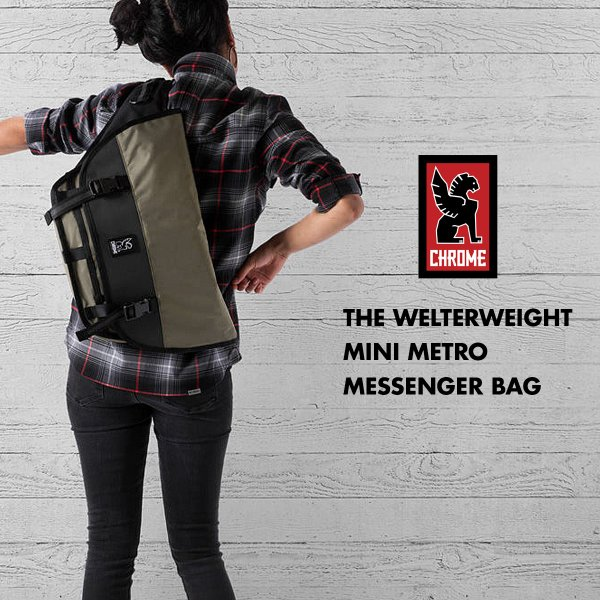 CHROME メッセンジャーバッグ クローム ミニメトロ THE WELTERWEIGHT MINI METRO メンズ レディース チャコール カーキ BG-221