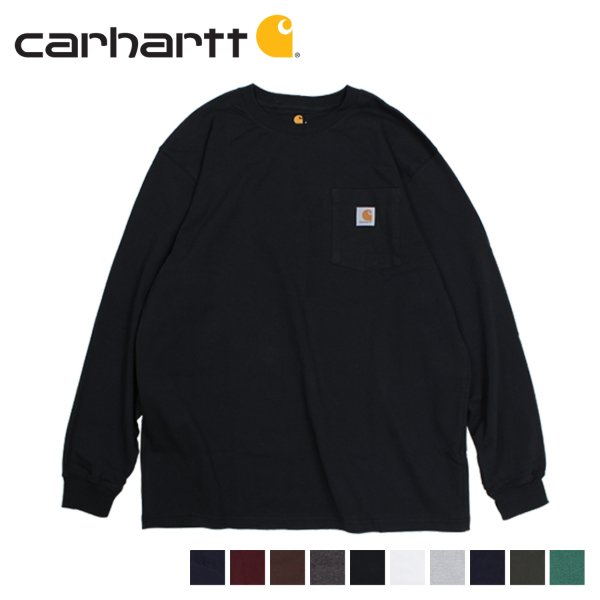 carhartt カーハート Tシャツ メンズ 長袖 ロンT WORKER POCKET LS T-SHIRTS K126 11/20 再入荷|sugaronlineshop