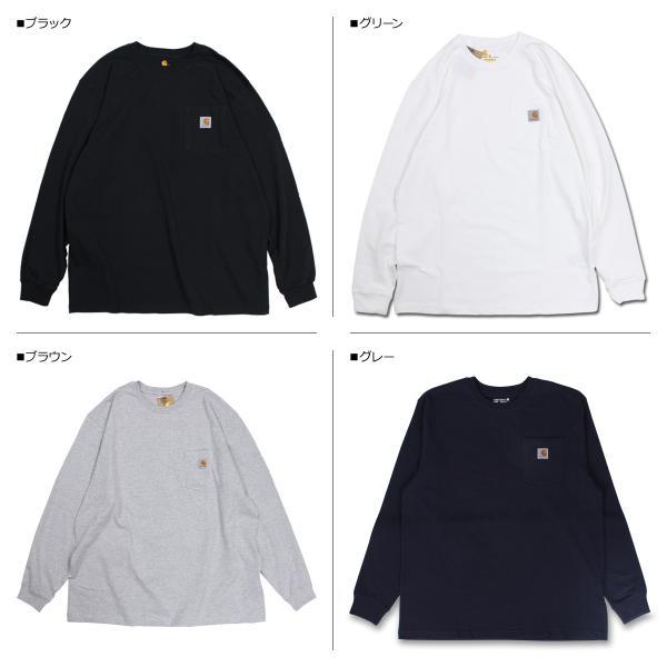 carhartt カーハート Tシャツ メンズ 長袖 ロンT WORKER POCKET LS T-SHIRTS K126 11/20 再入荷|sugaronlineshop|02