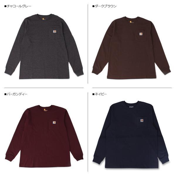 carhartt カーハート Tシャツ メンズ 長袖 ロンT WORKER POCKET LS T-SHIRTS K126 11/20 再入荷|sugaronlineshop|03