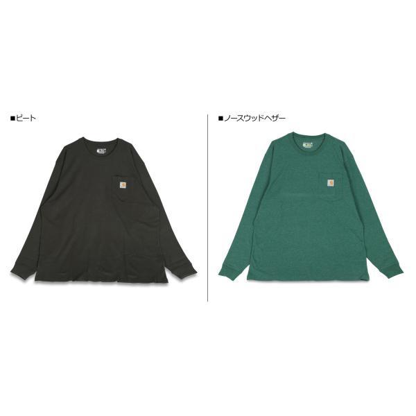carhartt カーハート Tシャツ メンズ 長袖 ロンT WORKER POCKET LS T-SHIRTS K126 11/20 再入荷|sugaronlineshop|04
