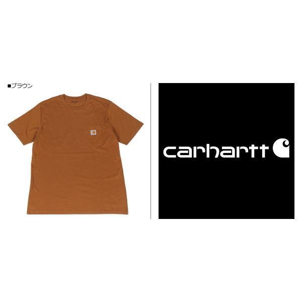 carhartt カーハート  Tシャツ メンズ 半袖 無地 SS POCKET T-SHIRT ブラック ホワイト ダーク グレー ダーク ネイビー ブラウン 黒 白 I022091 11/7 新入荷|sugaronlineshop|03