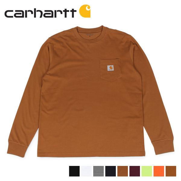 carhartt カーハート  Tシャツ メンズ 長袖 ロンT 無地 LS POCKET T-SHIRT I022094 11/7 新入荷|sugaronlineshop