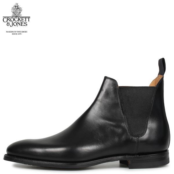CROCKETT&JONES クロケット&ジョーンズ チェルシー 8 ブーツ サイドゴア メンズ CHELSEA 8 Eワイズ ブラック 黒 11/20 追加入荷|sugaronlineshop