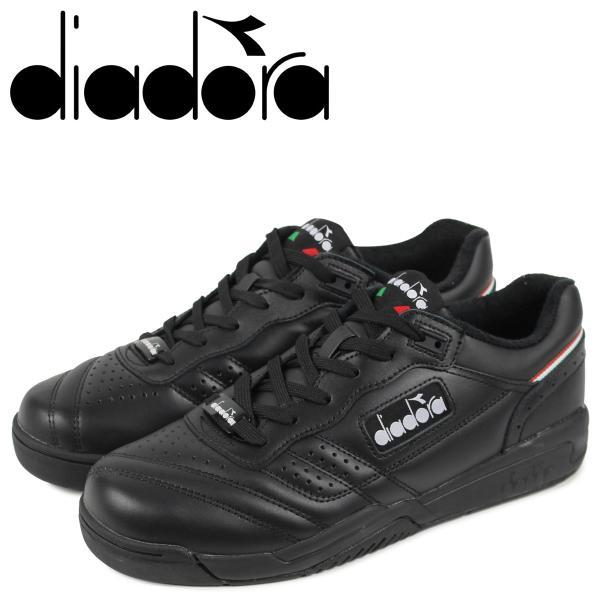 Diadora ディアドラ アクション スニーカー メンズ ACTION ブラック 黒 175361-0641 10/11 新入荷|sugaronlineshop