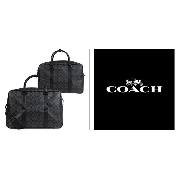 COACH コーチ バッグ ボストンバッグ ショルダー メンズ シグネチャー 2WAY ブラック F31564|sugaronlineshop|02